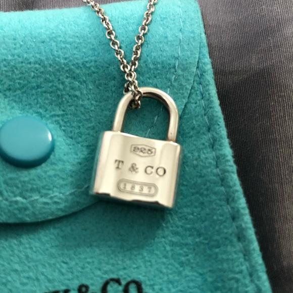 48b34f45aee37 Tiffany & Co Lock Pendant Necklace